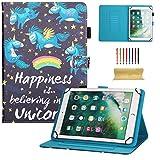dteck Universal Schutzhülle für Samsung Galaxy Tablet, Apple iPad Mini, iPad 9,7, Amazon Kindle, Google Nexus und Mehr 16,5–26,7cm Tablet 01 Pink Flower for 6.5-7.5 inch Tablet