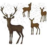 Sizzix 662426 Set de 5 Matrice Thinlits Rennes Merveilleux de Noël, Métal, Multicolore, 19,1 x 14,4 x 0,4 cm