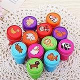 Lalang 12pcs Tampons à encre auto-encrage les enseignants cadeaux timbres jouets stickers enfants Animal Tampon Encreur