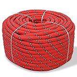 ghuanton Corde de Bateau Polypropylène 8 mm 500 m Rouge Quincaillerie Accessoires de quincaillerie Chaînes, câbles et Cordes Cordes et câbles de Construction