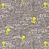 Fabulous Fabrics Cretonne Looney Tunes Tweety — Meterware ab 0,5m — Oeko-Tex Standard 100 — zum Nähen von Kinderartikeln, Taschen und Vorhängen