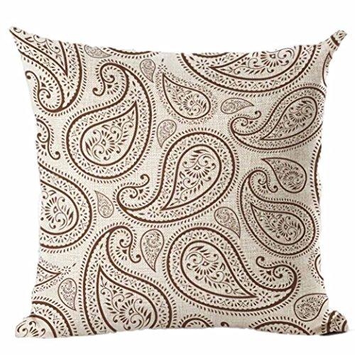 DOLDOA Drucken Färben Pfingstrose Sofa Bett Home Decor Kissenbezug Kissenbezug ,45 x 45(7) (Dekorative Akzent-stühle)