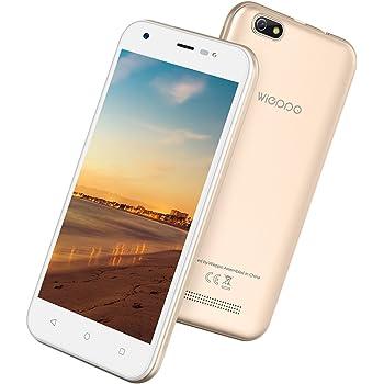 """Smartphone Economici in Offerta 3G, Smartphone Economici Cinesi 5"""", 1GB RAM +8GB ROM, HD 1280 * 720, Fotocamera 8MP+5MP, Android 7.0, Batteria 2400mAh (Wieppo S5 D'oro)"""
