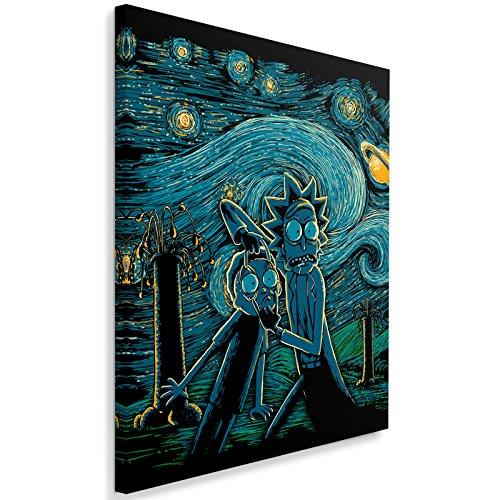 Feeby. Cuadro en lienzo - 1 Parte - 50x70 cm, Imagen impresión Pintura decoración Cuadros de una pieza, Starry Science - DDJVigo, ANIME, AZUL MARINO