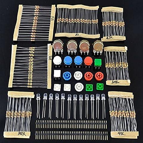 LAOMAO Elektronik Bausatz Kit/Set für ARDUINO Bauteile Widerstände