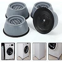 KWT Washer Dryer Anti Vibration Pads with Suction Cup Feet, Fridge Washing Machine Leveling Feet Anti Walk Pads Shock…