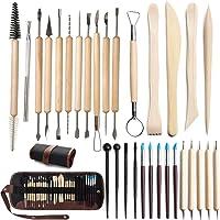 Kit d'outils poterie, Outils de sculpture sur argile Ensemble de poterie en argile, kit sculpture pour modeler la pâte à…