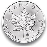 """Silver Coin 1 Onza """"Maple Leaf"""" plata de la moneda - 2016 - empacado individualmente en cápsulas de monedas - 1 oz de plata - Nuevo"""