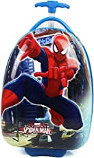 GOCART Egg Shape Spiderman y 16 Inch (40 CM) Hard Side Water Proof Polycarbonate 360 Rotating Red Luggage Bag with Ergonomic Handle