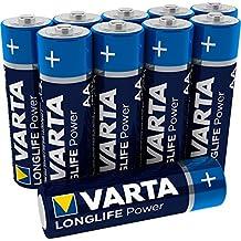 VARTA Longlife Power AA Mignon LR6 Batterij (verpakking met 10 stuks) Alkaline Batterij - Made in Germany - ideaal voor speelgoed zaklamp controller en andere apparaten op batterijen