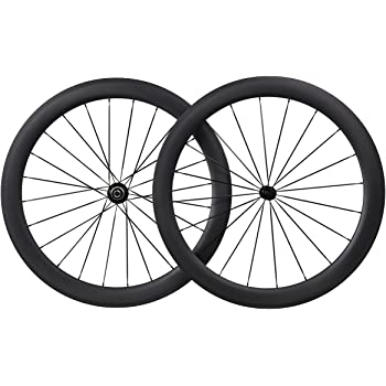 50mm Aero 700C Carbono Carretera Bicicleta Clincher Tubeless Ready 25mm Breit Rueda CN Habló