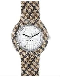 Orologio HIP HOP per donna PIED DE POULE con cinturino in silicone, tessuto, movimento SOLO TEMPO - 3H QUARZO