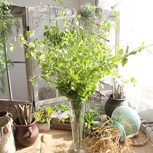 Mitlfuny Unechte Blumen,Künstliches Pflanzen Fälschungs Blatt Laub Gras Bush Künstliche Bouquet Bridal Hortensie Dekor 6 Farbenr ()