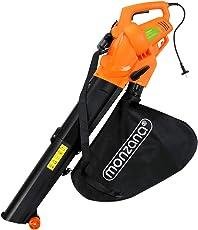 Monzana® Elektro Laubsauger   3 in 1   3000W   Schultergurt und Rollen   Fangsack 45L   Laubbläser Gartensauger Gartenbläser