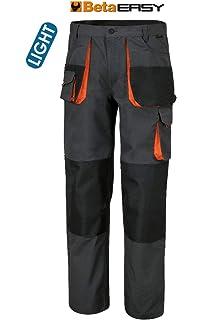 Beta 7811 S cavallo e fondo gamba Grigio//Nero Pantaloni da lavoro/multitasche work/trekking MID SEASON pantaloni elasticizzati slim fit con tessuto in nylon Inserti rinforzati su ginocchia