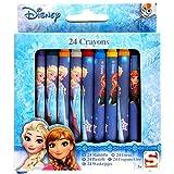 Disney Frozen La Reine des Neiges - 24 Mini Crayons Gras, craies Grasses