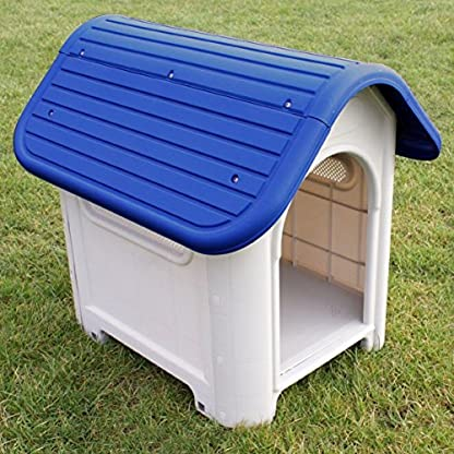 Puppy Dog House Weather Proof Plastic Kennel Indoor Outdoor Animal Pet Shelter 1