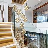 Double escalier lustre moderne simple restaurant salon lumières double lustres en verre rotatifs ( taille : 40*200 cm )