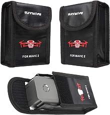 GDD2018 3X Mavic 2 Lipo Bag Sicherheitsschutz Batterie Safe Tasche für DJI Mavic 2 Pro / Zoom
