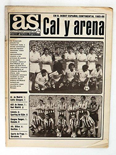 AS DIARIO DEPORTIVO 5580. CAL Y ARENA ESPAÑOL CONTINENTAL 1985-86. 19 SEPT