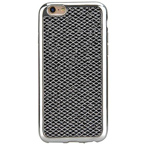 iPhone 6 / iPhone 6s Hülle, Yokata Glitzer Silikon Weich Case mit Bumper Bling Luxury Dünn Case Schutzhülle Protective Cover Schwarz