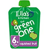 Ella's Kitchen Organic The Green One Smoothie, 6+ Months Baby Food, 90g Pouch (Pack of 24)