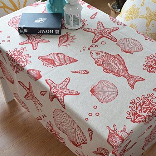 Hyun times Marina mediterránea hipocampo estrellas de mar fondo de pantalla brillante nórdica sencilla cortina decoración de mesas de selección de color (Tamaño : 100*145)