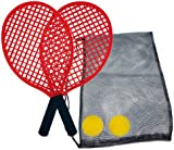 Schildkrot Fun Sports Beach Tennis Set with Mesh Carry Bag Plus Two Foam Balls - Red