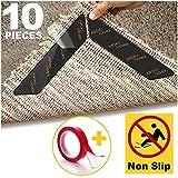 Karoro Antirutschmatte für Teppich, 10 Stück Teppichgreifer Antirutschmatte Waschbar Teppich Ecke Rutschfest Teppichstopper wiederverwendbar Rutschschutz für Teppich