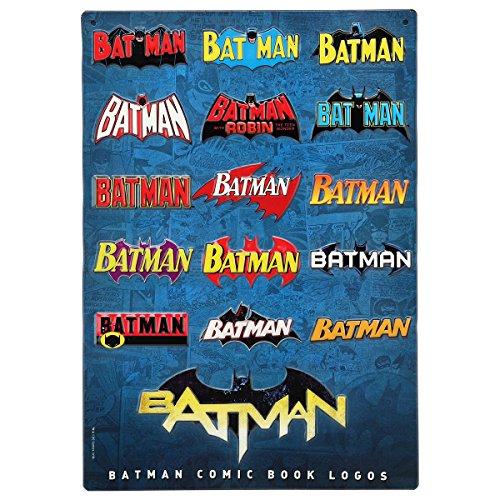Open Road Brands Batman Logo Evolution geprägtes Metallschild (Die Evolution Von Batman)