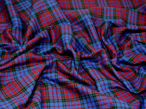 Tartan gebürstete Baumwolle Kleid Stoff–Meterware Carberry