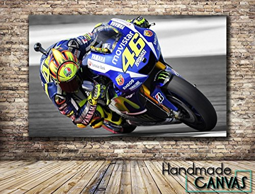 valentino-rossi-motorcycle-racer-sport-handmade-canvas-art-print-framed-ready-to-hang