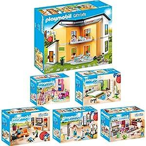 Playmobil city life 6er set 9266 9267 9268 9269 9270 9271 for Wohnzimmer 9267