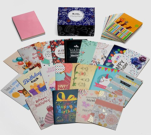 Descargar Pdf Birthday Cards Box Set Of 40 Assortedunique Designs