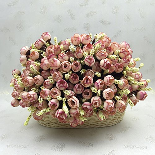 (MingXiao 7COLOR Künstliche Blume Rose Bouquet Home Hotel Zimmer Hochzeit Garten Decor)