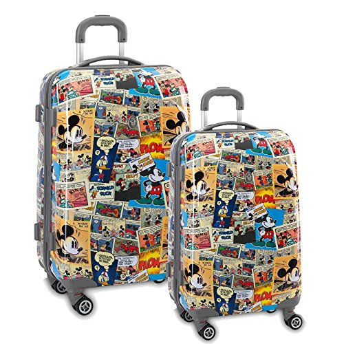 Fabrizio Koffer Trolley 2er Set Disney Minnie Maus Bunt Hartschalen Reisekoffer