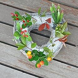 OLQMY-Mimbre cestas, flores, jarrones decorativos con forma de pote de flor, macetas tejidas,30cm