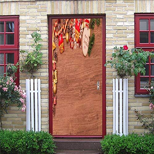 MYLOOO Weihnachtsserie Tür Aufkleber Wohnzimmer Schlafzimmer Badezimmereingewandte Wandbefestigung...