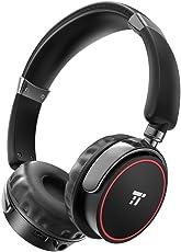 Bluetooth Kopfhörer Over Ear Kopfhörer 4.1 TaoTronics Kabellose Bügelkopfhörer mit Dualen 40mm Driver mit Großer Öffnung und aptX-Audio (25 Stunden Spielzeit, Anpassbares Design, 90°-Drehgelenk, On-Ear Steuerung, Eingebautem Mikro, Aux-Unterstützung)