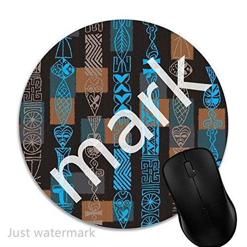 Maus-Pad Braun Blau Hawaiian,7 inch rund Mouse-Pad mit rutschfester Unterlage Standard 1V1851 (Maus-pad-hawaiian)