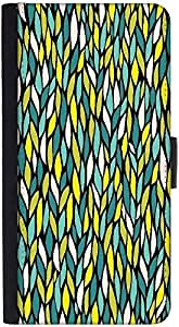 Snoogg A Seamless Leaf Pattern Designer Protective Flip Case Cover For Htc M7