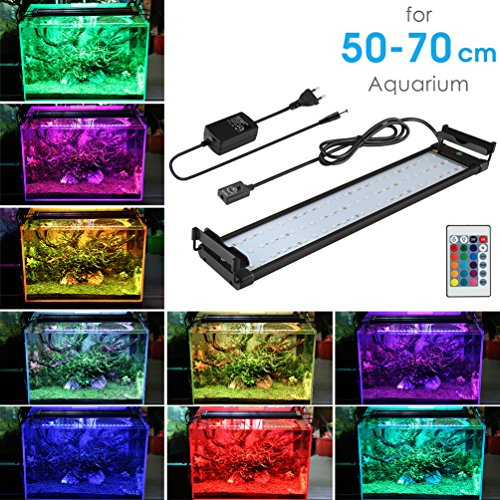 BELLALICHT Lampe LED Aquarium Lumieres Rampe LED pour Aquarium 72 LEDs Eclairage Neon RGBW pour 50-70cm Aquarium, 14W