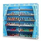 Blueidea-Organiseur-de-Placard-Portable-Prsentoir--Chaussures-36-Paires-Chaussures-Meuble-de-Rangement-Organisateur-de-7-Couches-Couvert-Par-Housse-en-Tissu-Dtachable-Armoire--Chaussures-Bleu-Tissu