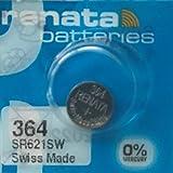 1 x Batterie Montre Renata poignet - Fabriqué en Suisse - Sans Piles oxyde d'argent 0% Mercure Renata Pile bouton 1,55 V pile