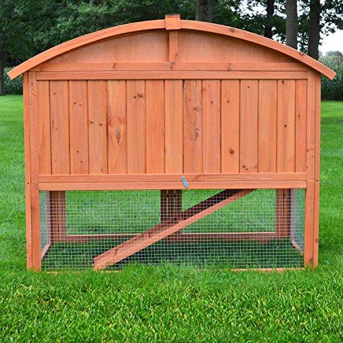 Stall Villa Runddach Kaninchenstall Hasenstall Kaninchenkäfig Hasenkäfig - 5
