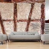 murando - Fototapete 400x280 cm - Vlies Tapete - Moderne Wanddeko - Design Tapete - Wandtapete - Wand Dekoration - Beton Abstrakt Holz Tür f-B-0025-a-a
