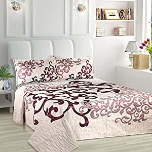Natraj Beautiful Designer Bed Cover with 2 Pillow Covers