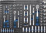 BGS 4036 3/Werkstattwageneinlage: Steckschlüssel-Satz, Pro Torque, 192-teilig