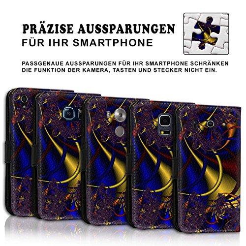 Wallet Book Style Flip Handy Tasche Case Schutz Hülle Schale Motiv Etui für Apple iPhone 6 / 6S - Variante UMV11 Design12 Design 1