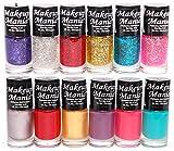 #9: Makeup Mania Nail Polish Set of 12 Pcs (Multicolor Set # 92)